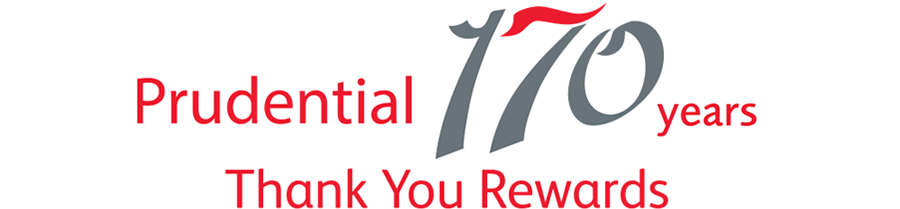Prudential 170 years Thank You Rewards